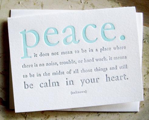 mensagem peace
