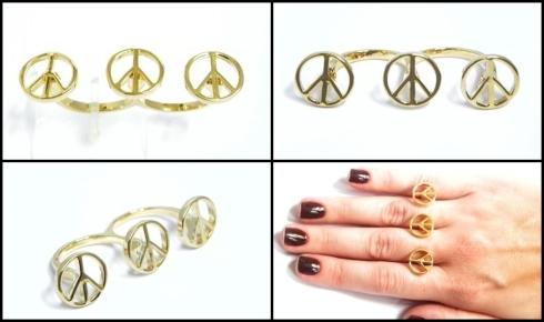 montagem anel trio peace